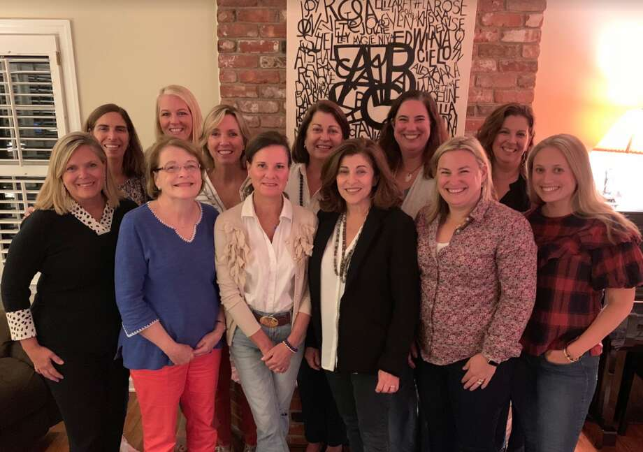 A Better Chance in Darien Tailgate Gala Committee — Pat Cage, back, left, Diane Covello, Jackie Scott, Susan Wilson, Amy Zabetakis, Michelle Donzeiser; Kimberly Servas, front, left, Karen Jespersen, Kristine Gould, Robin Ackerman, Sarah Mead, Katherine Samy. Not Pictured:  Heidi Bouton, Anne Thomas, Jane Yezzi