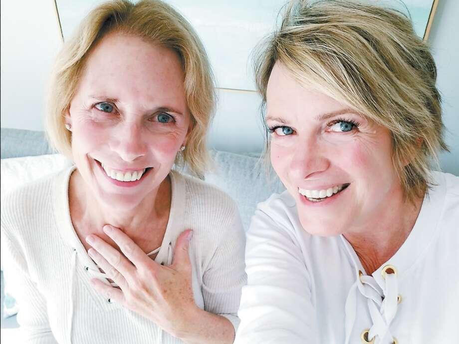 Mom workshop instructors Kim Bealle, left, and Andrea McDonough.