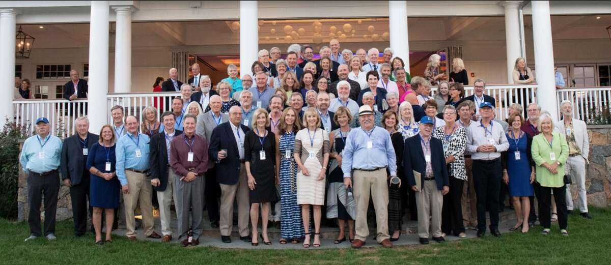 The Darien High School Class of '68 recently reunited. Photo courtesy Jed Lawrence.