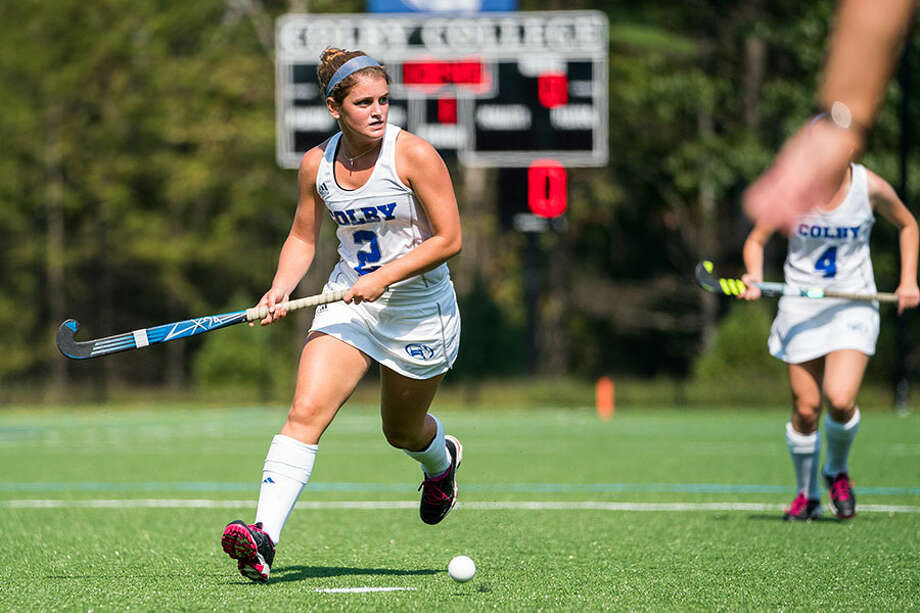 Darien's Georgia Cassidy in action with the Colby College field hockey team last fall. — Colby Athletes photo