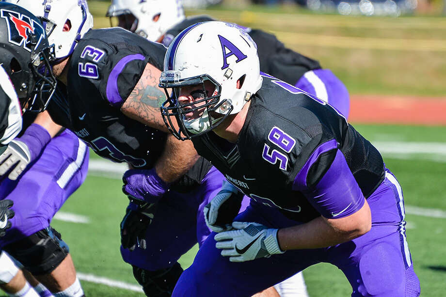 Darien's Jack Tyrrell in action for the Amherst football team. — Amherst Athletics photo / (c) 2017 Clarus Studios Inc