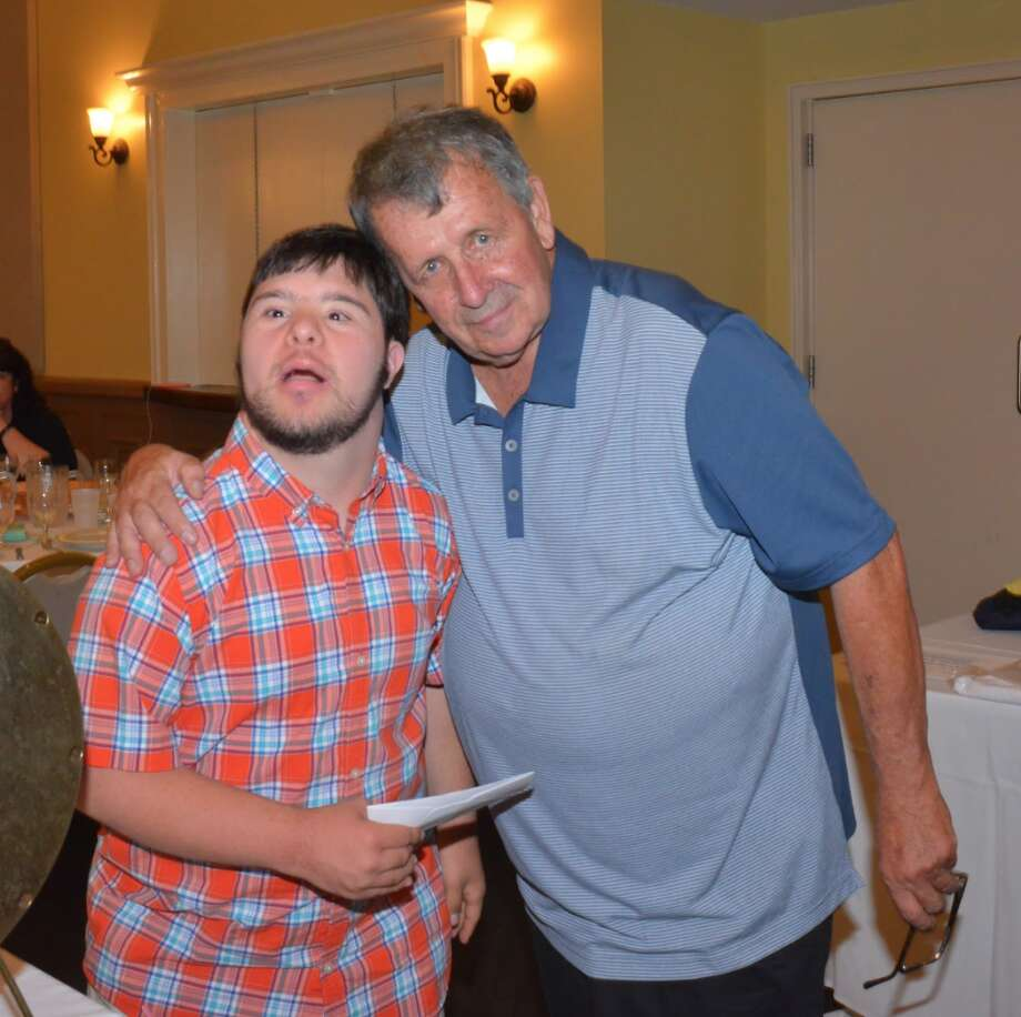 Andrew Speziale, an avid participant in many YMCA special needs programs along with Ken D'Andrea