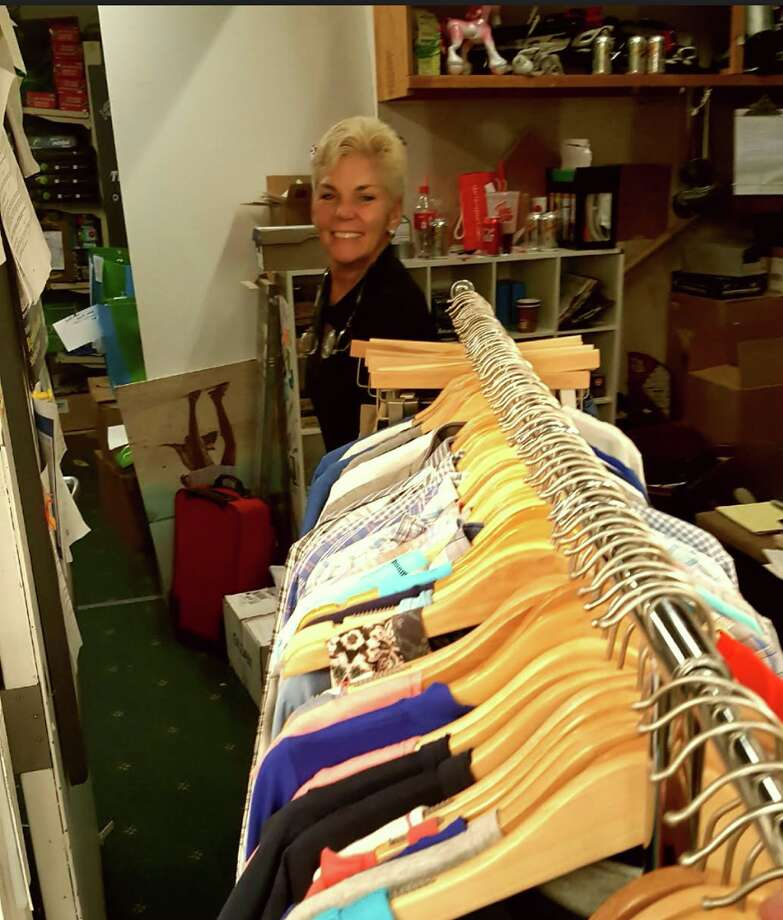 Darien Sport Shop president Gina Zangrillo recently donated new clothing, shoes and accessories to the Darien Human Services' back-to-school drive.