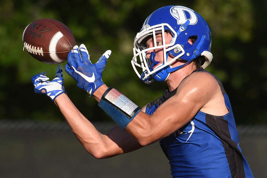 The Darien Blue Wave will go for its second 7-on-7 tournament championship in as many weeks when they play in the annual Grip It & Rip It tournament this weekend in New Canaan. — Dave Stewart Photo