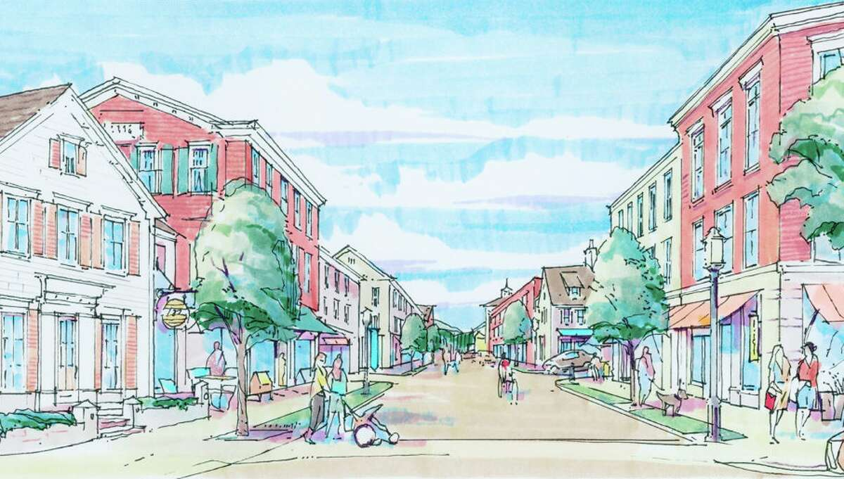 A rendering from Baywater for its new downtown site plan.