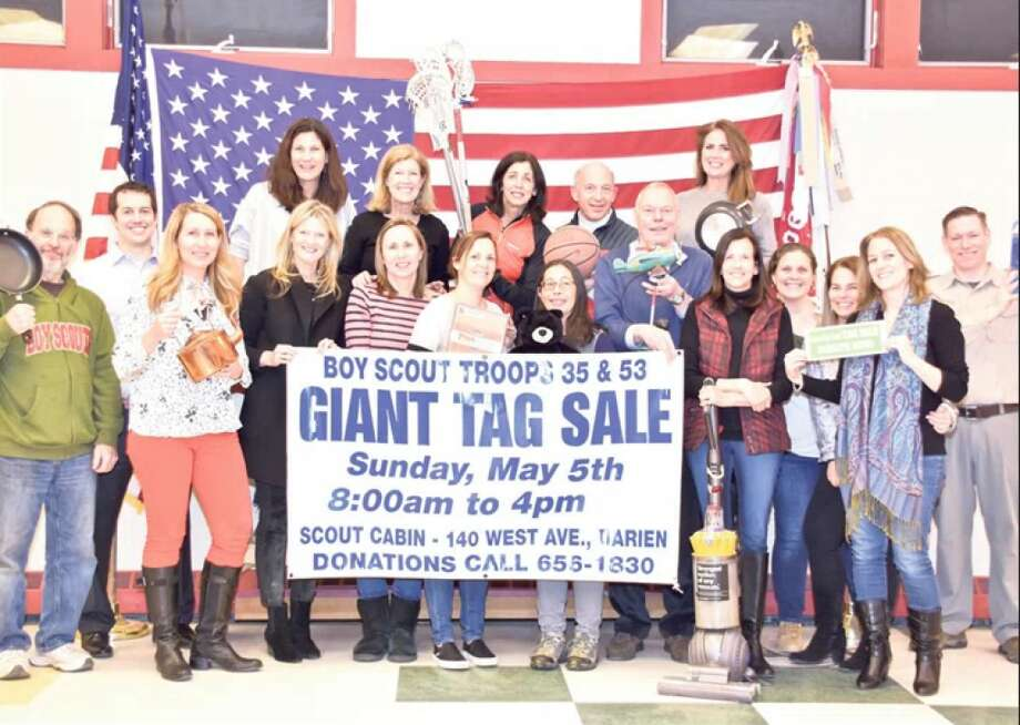 The Boy Scouts' annual tag sale is Sunday, 8 to 4 p.m.
