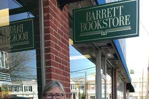 From left, Barrett Bookstore events coordinator Rosanna Nissen and owner Sheila Daley. The bookstore has just moved to a new location on 6 Corbin Drive