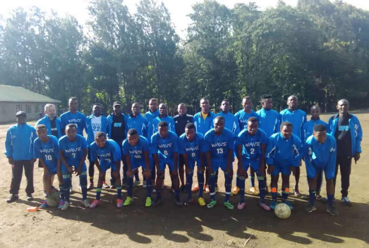 Soccer equipment donations were taken to Tanzania recently - Anne Wells photos