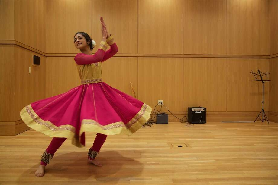 Manvi Malhotra, 17, took third place with this traditional Kathak dance from northern India.