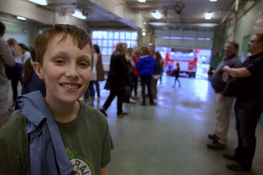 Ethan Lublin, 11, of Darien, was the highest fundraiser for the second year in a row at the Darien firefighters' St. Baldrick's event — ALL PHOTOS — Jarret Liotta/Hearst Connecticut Media