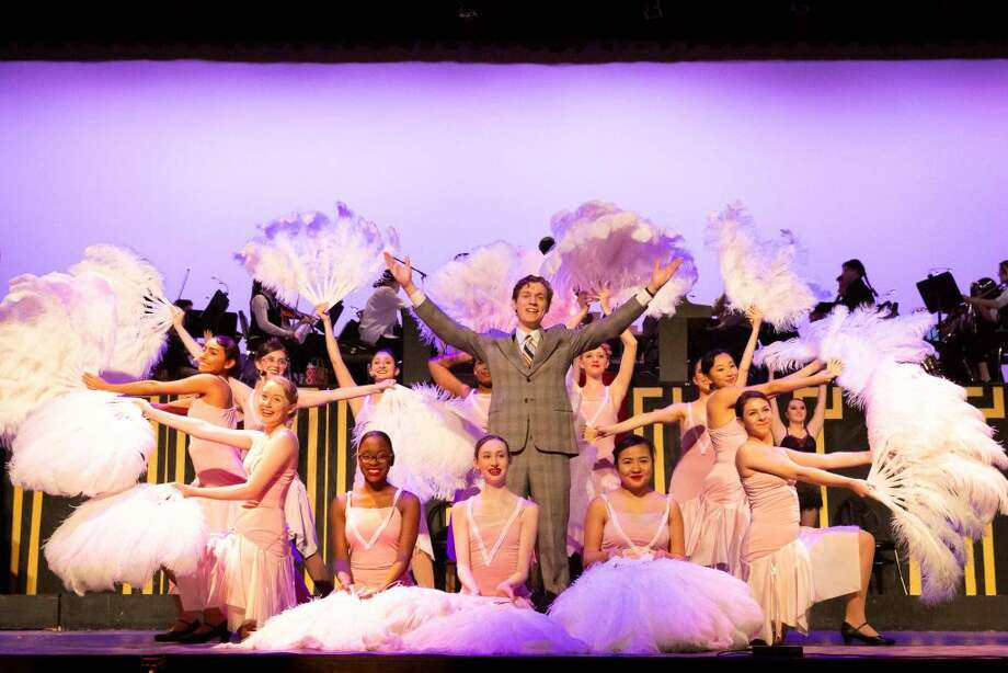The cast of Darien High School's Chicago at last weekend's performances. Nina Nelson photo