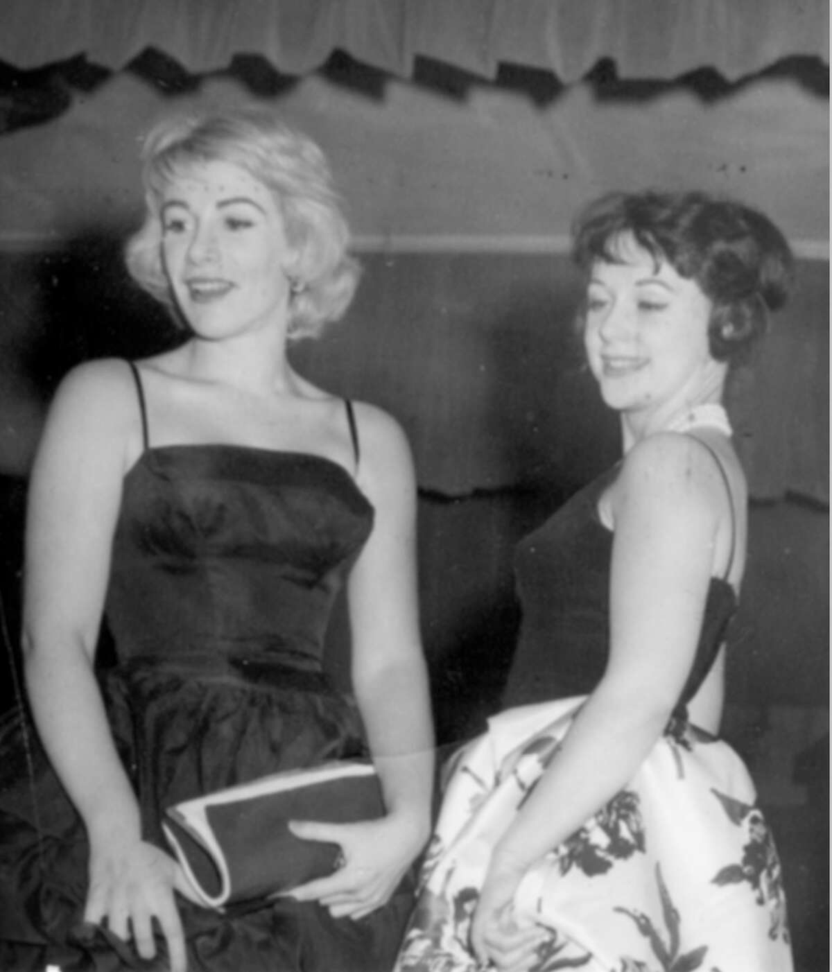A USO photo of a young Joan Rivers and Arden Anderson-Broecking