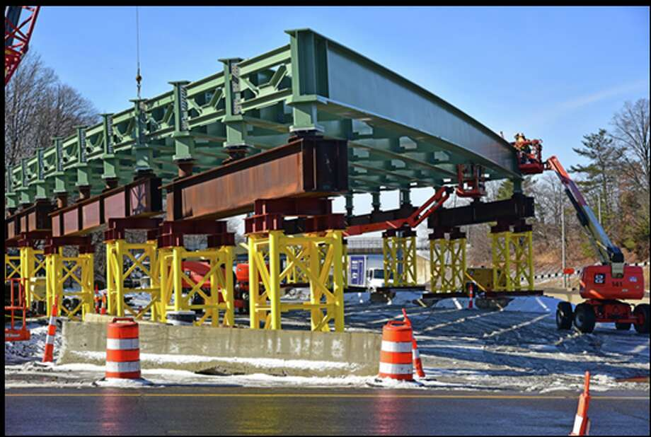 The CT Department of Transportation is building two new bridge spans to replace the Route 1 (East Main Street) Bridge over I-95 at Exit 9 in Stamford.