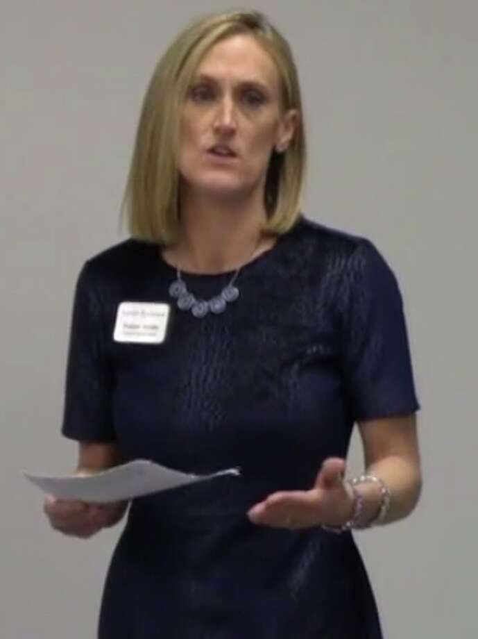 "Shanon Jordan, a social worker and the southwestern regional director of the Alzheimer's Association's Connecticut chapter, gave a presentation on Feb. 28 called ""Community Matters,"" at the Darien Senior Center."