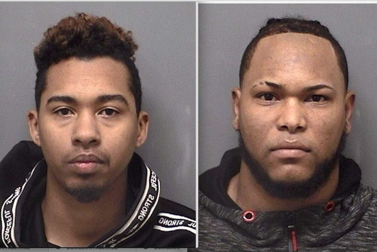 Jeramy Valdez, left, and Carlos Artiles were recently arrested by the Darien Police for alleged mail theft.