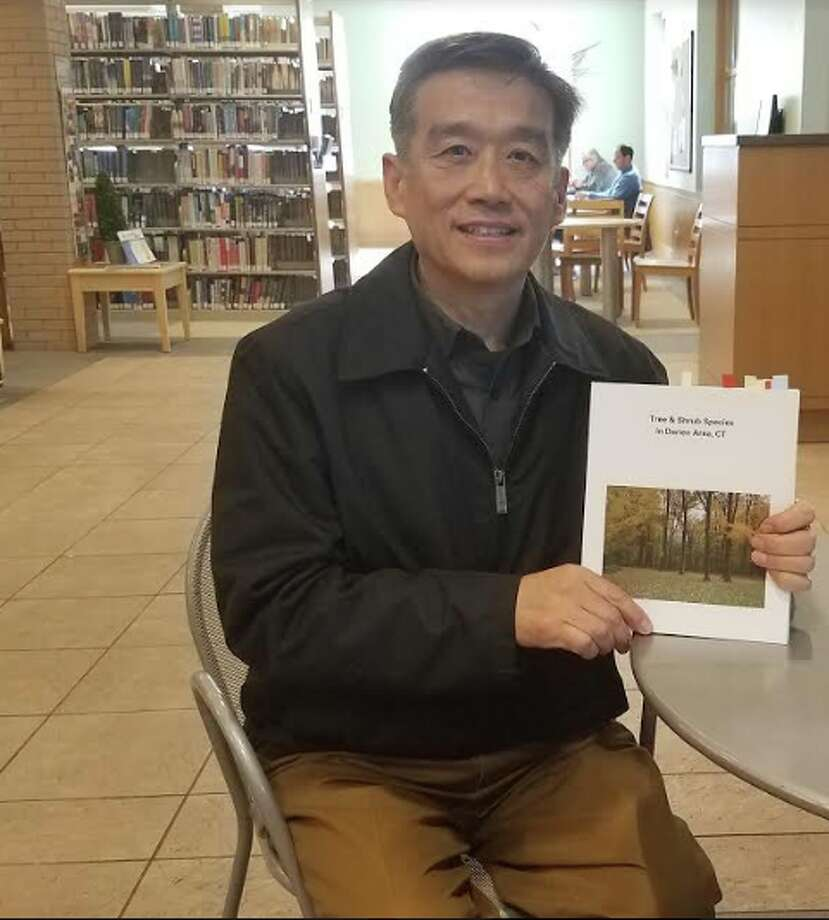 Jimmy Ma, who is on the board of the Tree Conservancy, has recently published a book called Tree & Shrub Species in Darien. — Sandra Diamond Fox photo