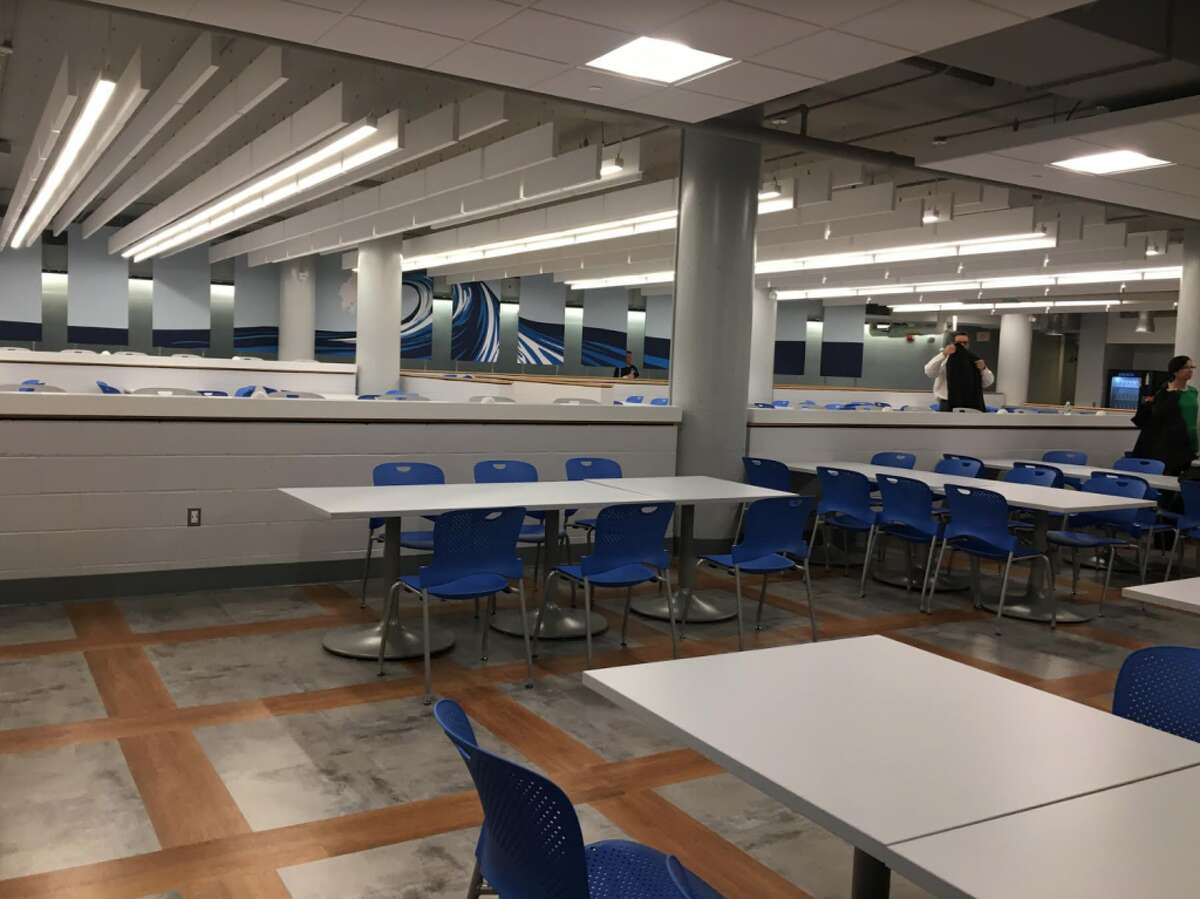 A view of the new Darien High cafeteria.
