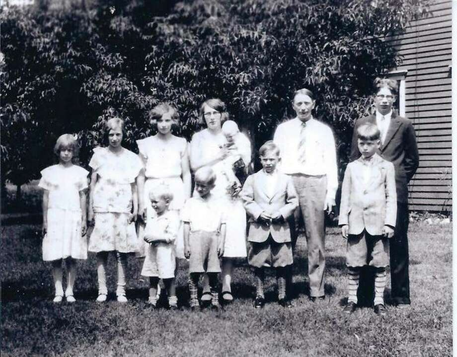 The William and Anna (Geiger) Siemen family, circa 1932. (Submitted Photo)