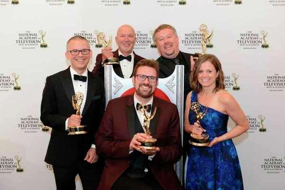 The WCMU 'Destination Michigan' crew from left, Chris Ogozaly, Steve Smith Matt Ozanich, Adam Miedema and Stefanie Mills. (photo provided)