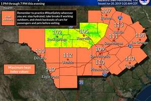The National Weather Service issued a heat advisory in San Antonio for the second consecutive day. The heat index is expected to reach 109 degrees in the Alamo City.