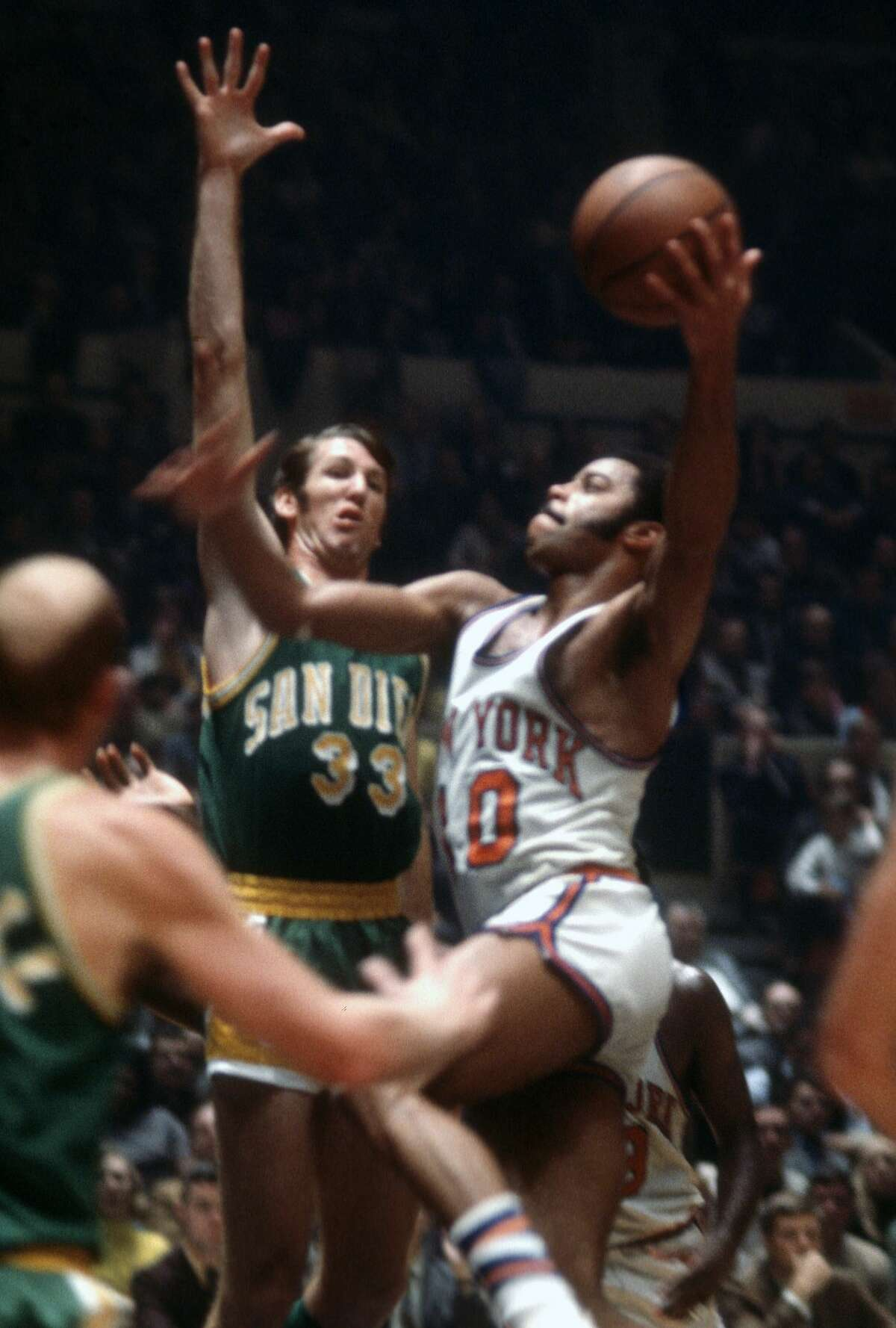 1966-1971: San Diego Rockets era Before moving to Houston for the 1971-72 season, the Rockets were the San Diego Rockets and wore green and gold uniforms.