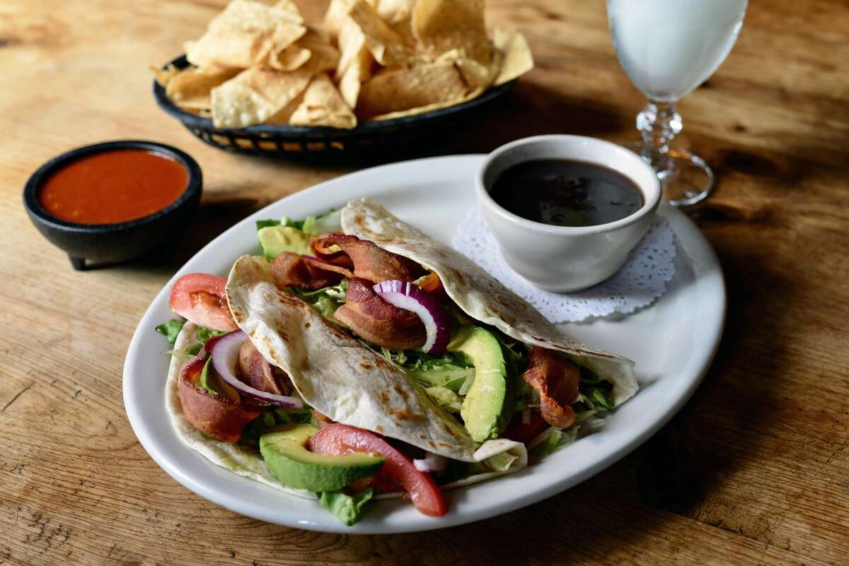 BLT tacos at Molina's Cantina 7901 Westheimer; 3801 Bellaire Devour the under-wraps BLT tacos, $9.95, at Molina's Cantina. Two tacos come filled with bacon, lettuce and tomatoes, along with sliced avocado and a house-made sauce.