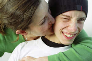 A woman has entered a relationship with a teenager.