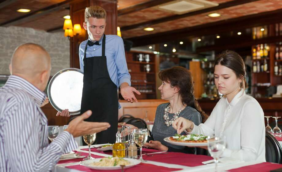 Guests at a restaurant were unsatisfied with a waiter's attempt at humor. Photo: JackF/Getty Images/iStockphoto