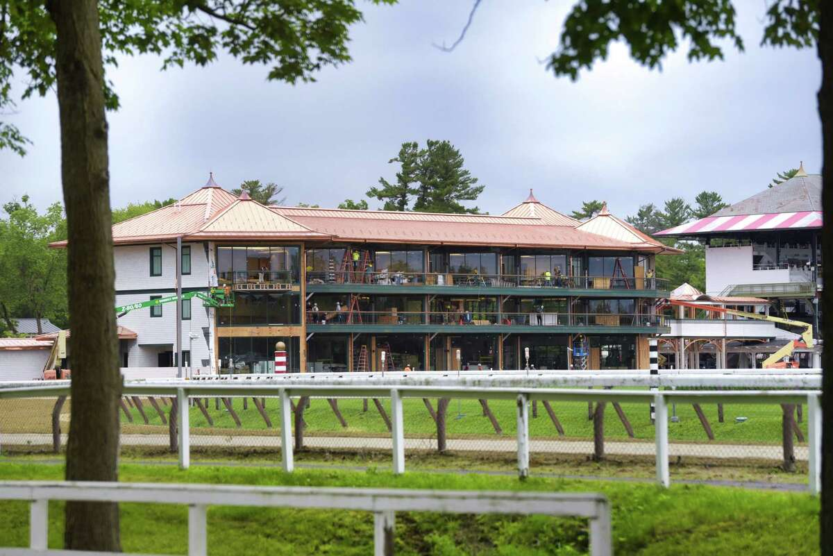 Work continues on construction of the 1863 Club at Saratoga Race Course on Thursday, June 20, 2019, in Saratoga Springs, N.Y. (Paul Buckowski/Times Union)