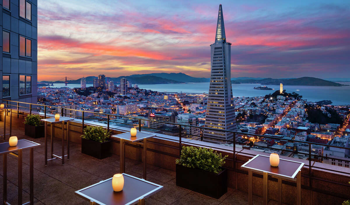 Outdoor terrace view from the Loews Regency San Francisco, which will become a Four Seasons next year.