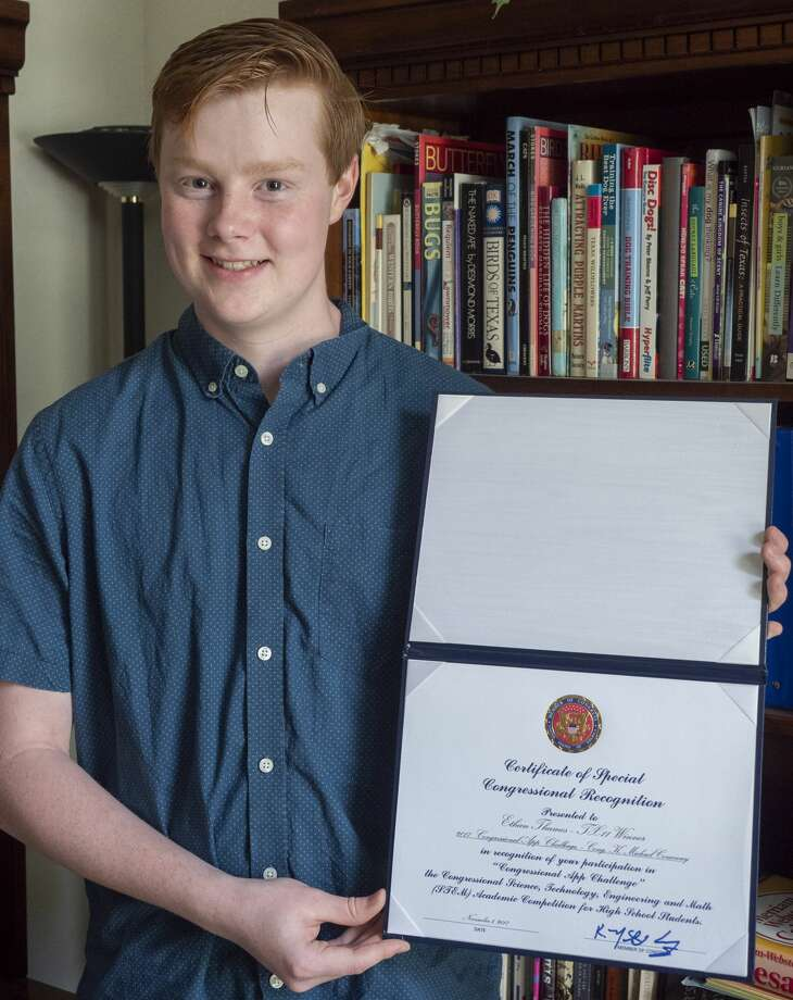 Ethan Thames was awarded the Congressional Recognition for the second year 06/19/19 after competing in the Congressional App Challenge in science, technology, engineering and math. Tim Fischer/Reporter-Telegram Photo: Tim Fischer/Midland Reporter-Telegram