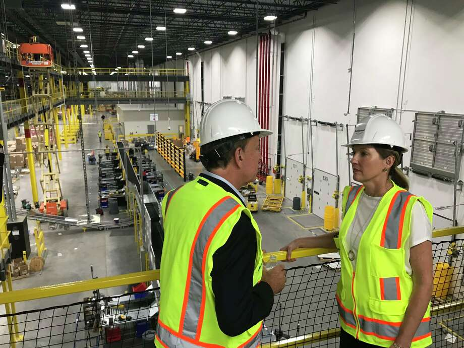 A tour of progress on Amazon's upcoming fulfillment center in North Haven. Photo: Clare Dignan