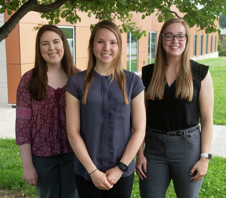 Representing the SIUE School of Pharmacy in the ACCP Clinical Research Challenge were (L-R) Lauren Ratliff, Kristen Ingold and Kristin Engelhardt. Photo: Courtesy Of SIUE