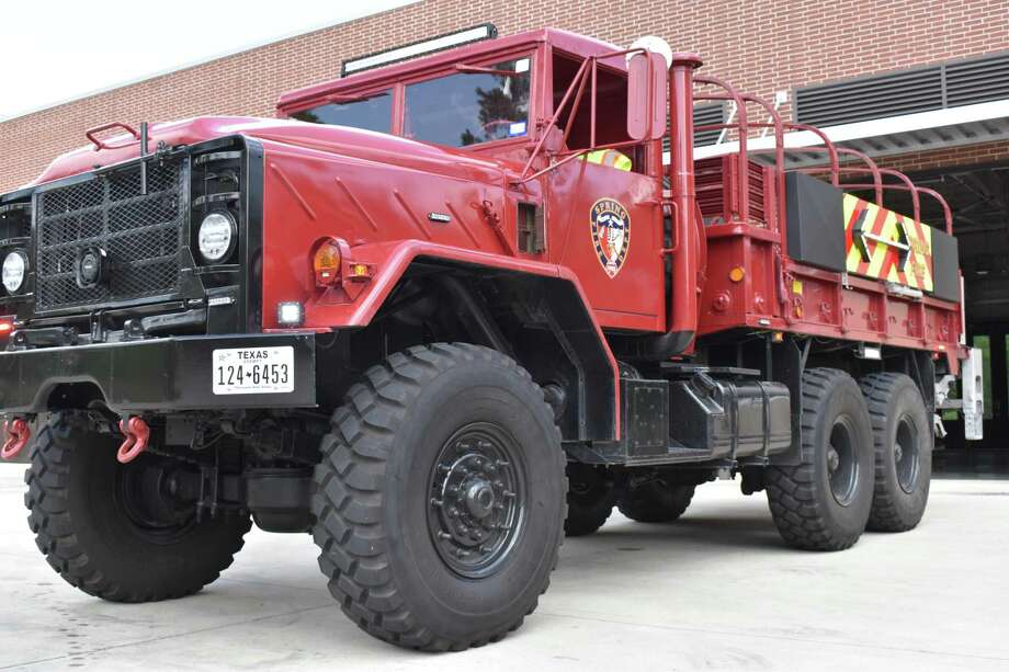 The Spring Fire Department modified two of its four high water rescue vehicles to help block traffic at accident scenes on roadways. Photo: Courtesy Of The Spring Fire Department