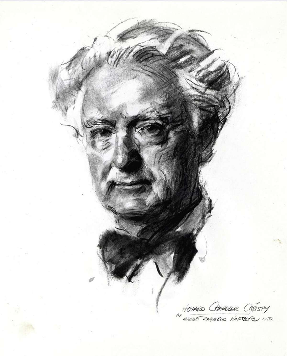 A sketch of artist Howard Chandler Christy done by artist Everett Raymond Kinstler.