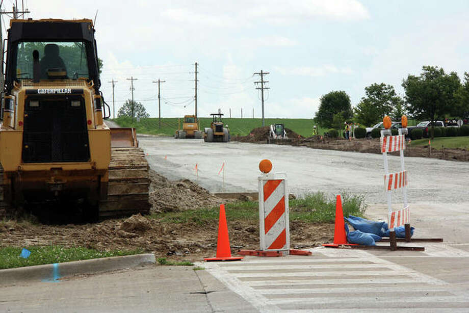The project should be complete between now and Aug. 13, which is when District 7 classes resume for the new year. Photo: Photos By Charles Bolinger | The Intelligencer