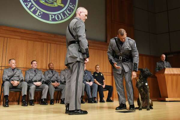 Photos: Police dogs, handlers graduate from State Police school