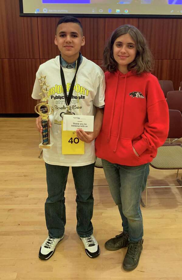 Bridgeport's new citywide spelling champ, Kelvyn Velazquez, a seventh grader at High Horizons Magnet School, Photo: Contributed