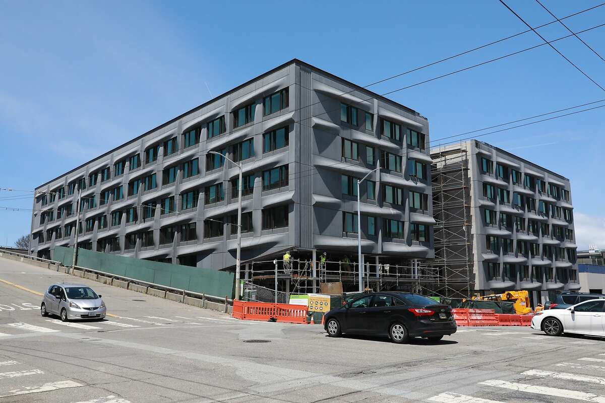 Construction in progress with The Tidewater at UCSF at the intersection of Minnesota and 18th St. in San Francisco, Calif., on Friday, May 17, 2019. UCSF is developing 700+ unit in Dogpatch.