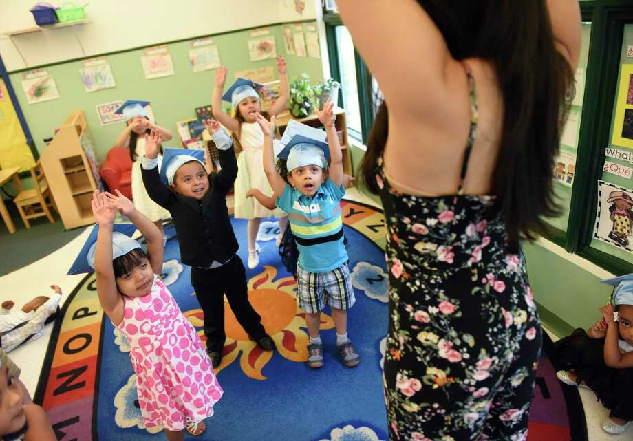 The Family Centers Head Start preschool graduation ceremony at Armstrong Court in the Chickahominy section of Greenwich, Conn. Thursday, June 20, 2019. Photo: File / Tyler Sizemore / Hearst Connecticut Media / Greenwich Time