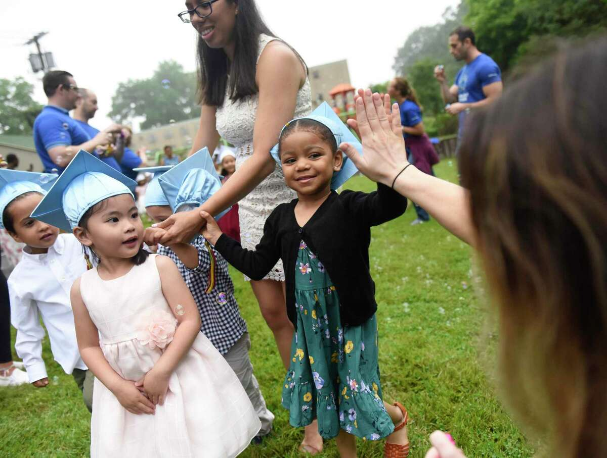 The Greenwich's Community Development Block Grant Committee has again allocated money to boost Family Centers' preschool program at Armstrong Court, which is seen here at a graduation celebration last summer.