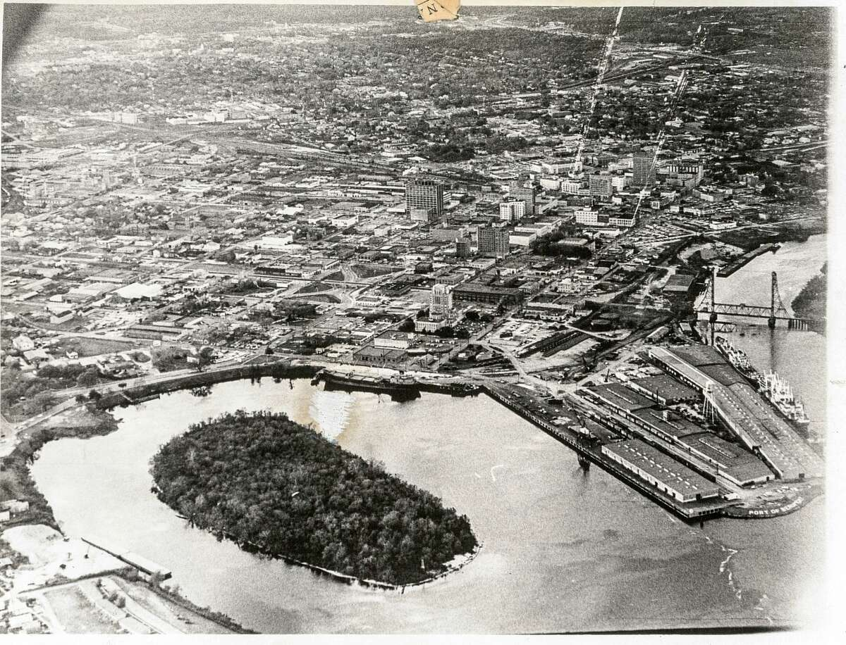 An undated aerial photo of downtown Beaumont. Enterprise Archive Photo