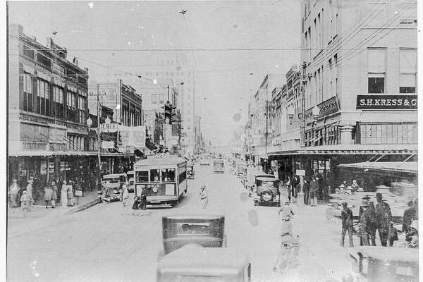 A 1928 photo of Pearl Street in Beaumont. Enterprise Archive Photo