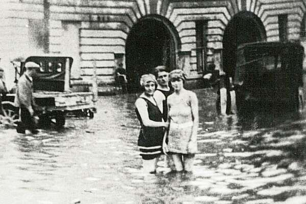A 1923 photo of flooding in downtown Beaumont. Enterprise Archive Photo