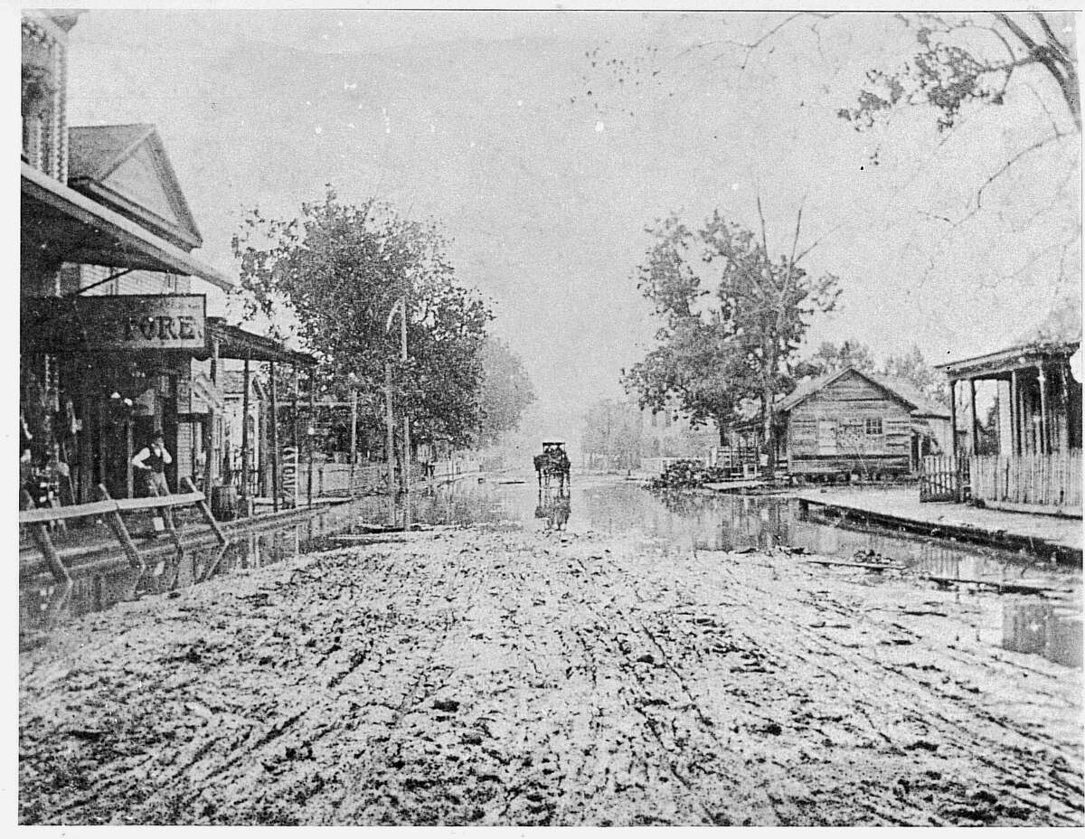 A 1890 photo of Pearl Street in Beaumont. Enterprise Archive Photo