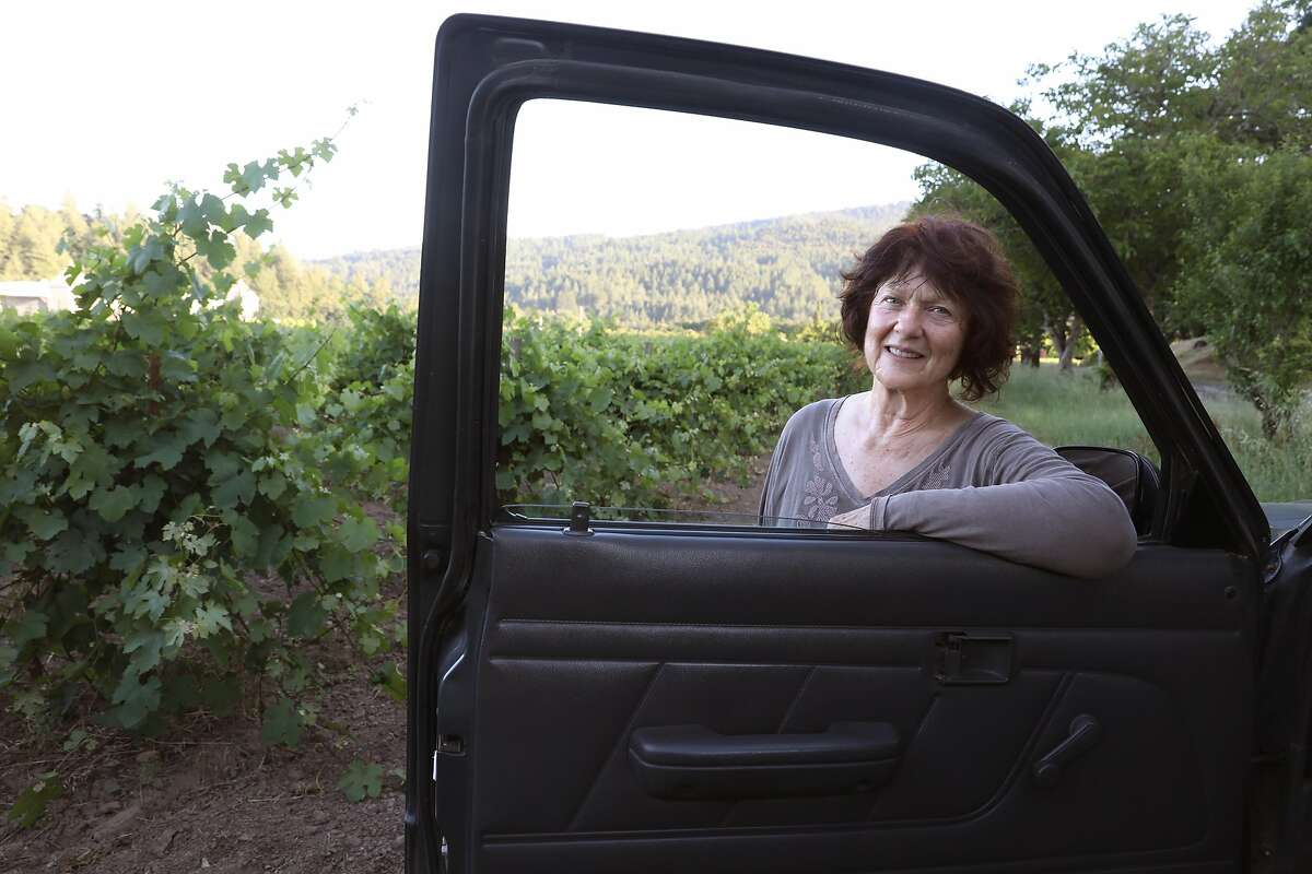 Norma Toffanelli seen next to carbono at Toffanelli vineyard on Monday, June 3, 2019 in Calistoga, Calif.