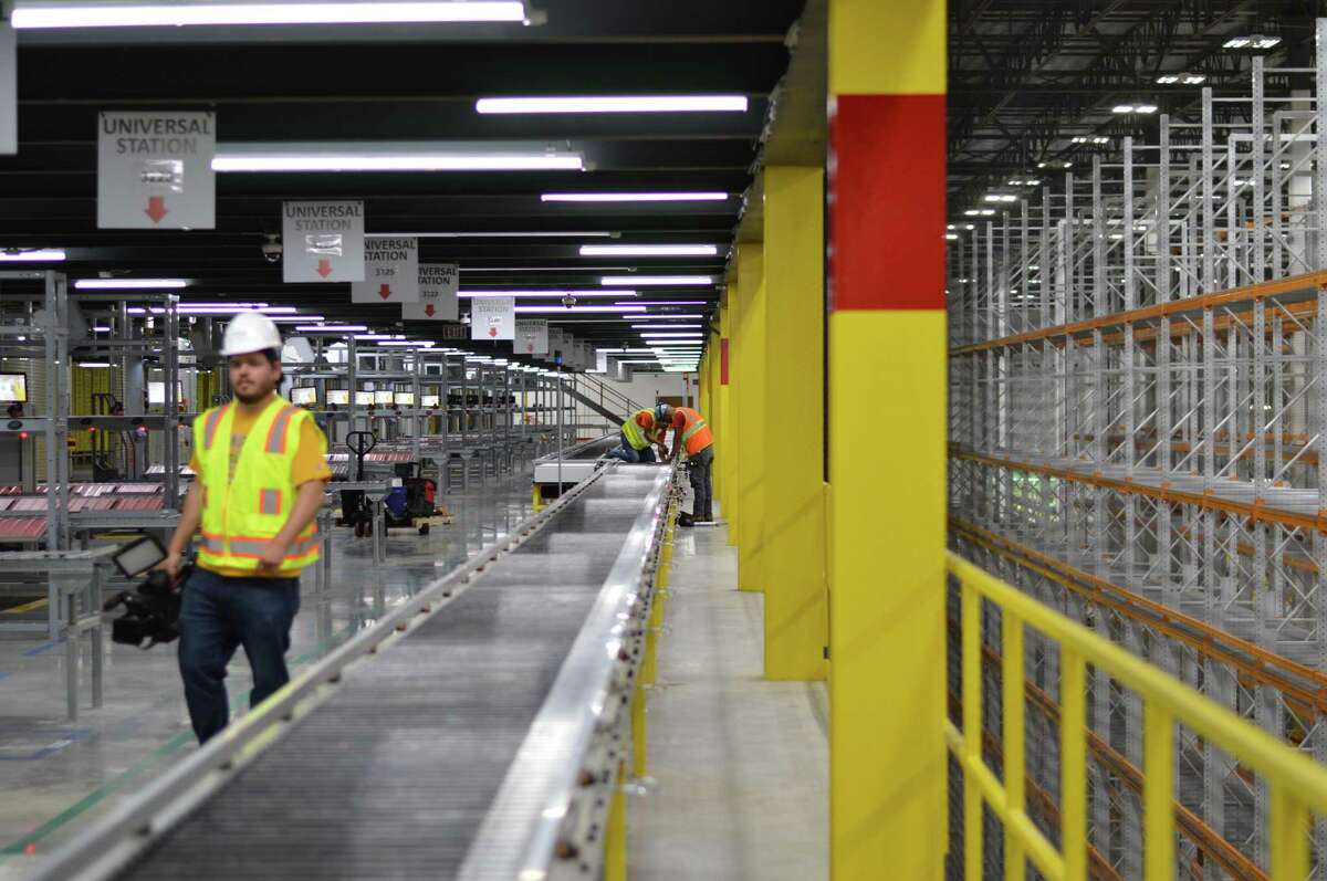 The opening of Amazon's North Haven fulfillment center on June 20, 2019.