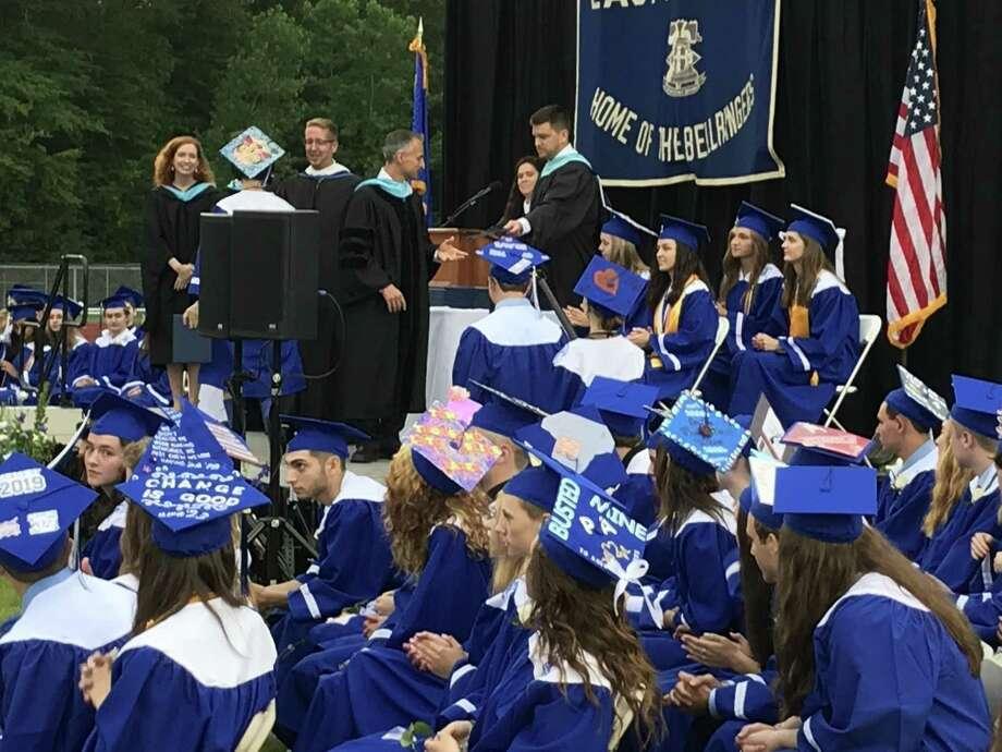 East Hampton High School Class of 2019 graduated this week. Photo: Jeff Mill / Hearst Connecticut Media