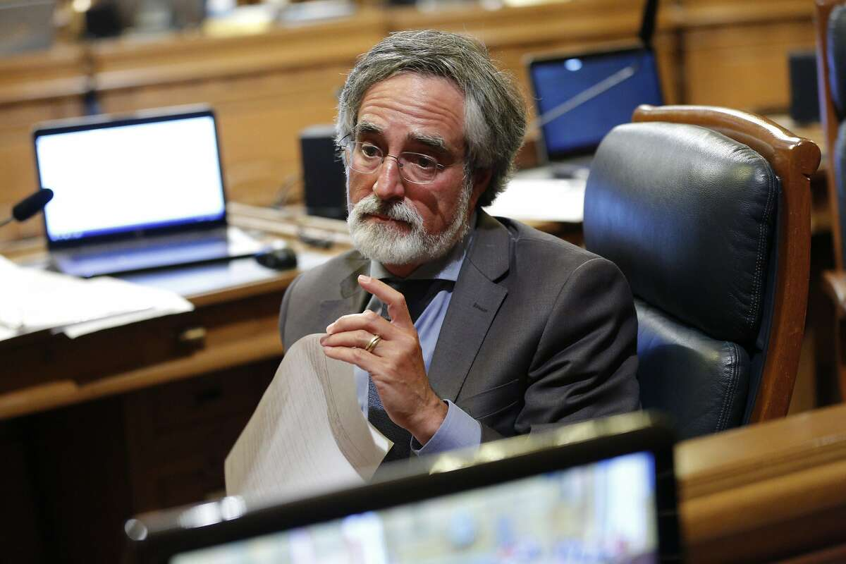 Supervisor Aaron Peskin during a board meeting on Tuesday, June 4, 2019, in San Francisco, Calif. The Board of Supervisors voted to shut down juvenile hall by the end of 2021.