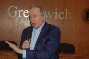 New Democratic Town Committee Chair Joe Angland was overwhelmingly elected by the body Wednesday night.
